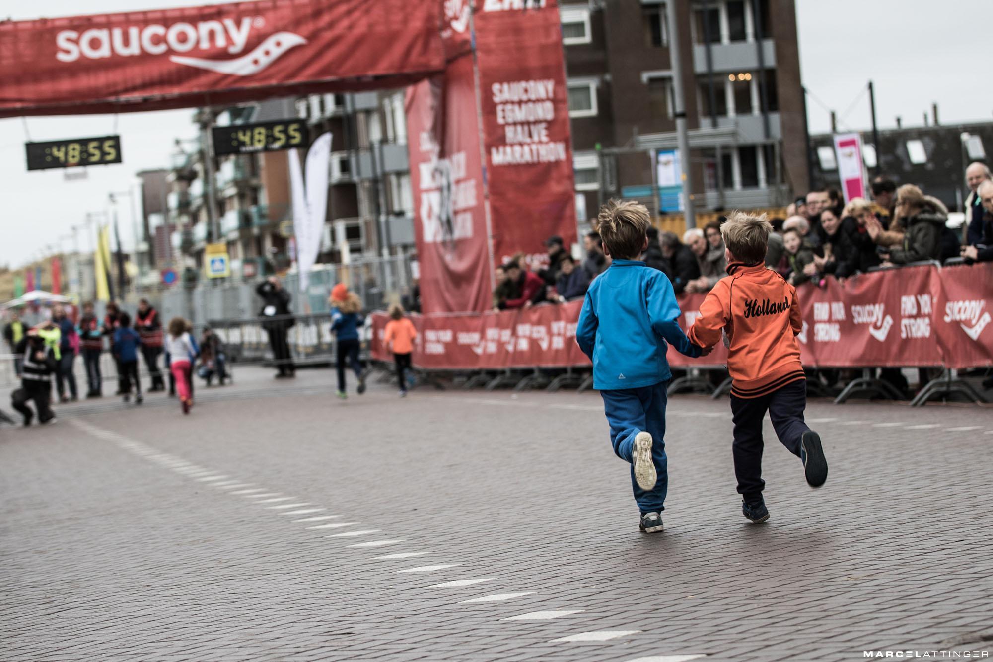 Kids naar de eindstreep