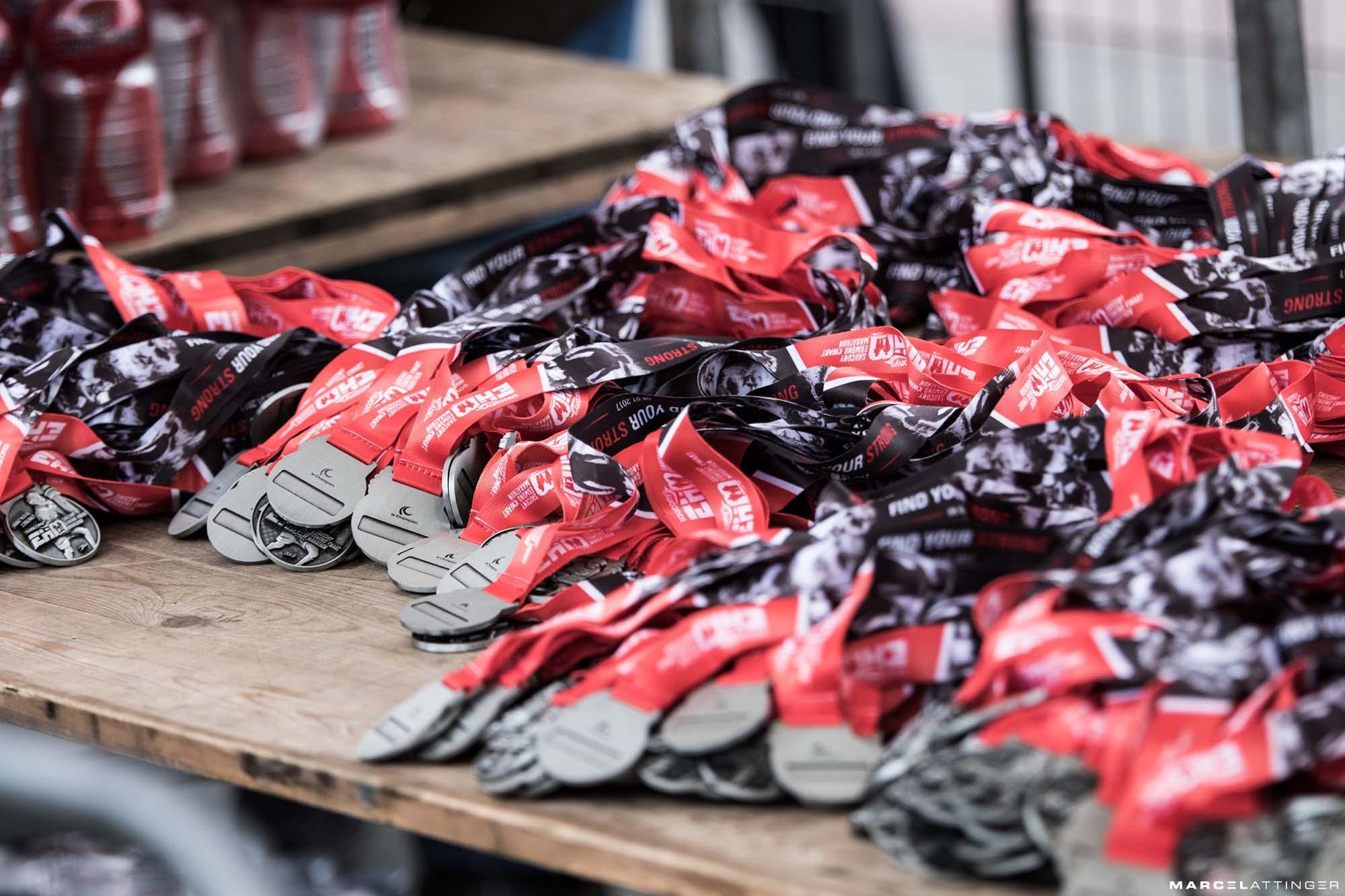 Medailles van de Egmond Halve Marathon